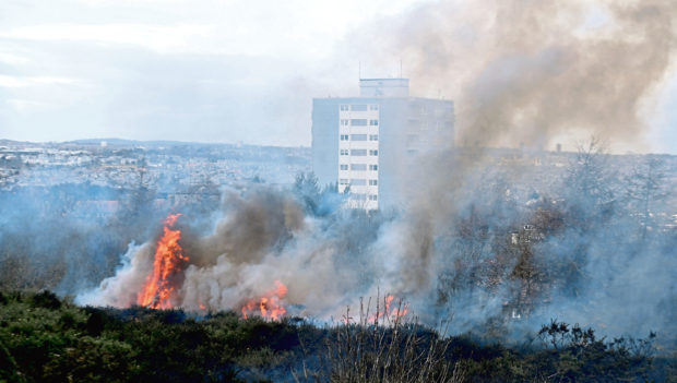 The number of deliberate fires in the north-east have increased