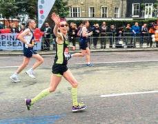 Marie runs the London Marathon