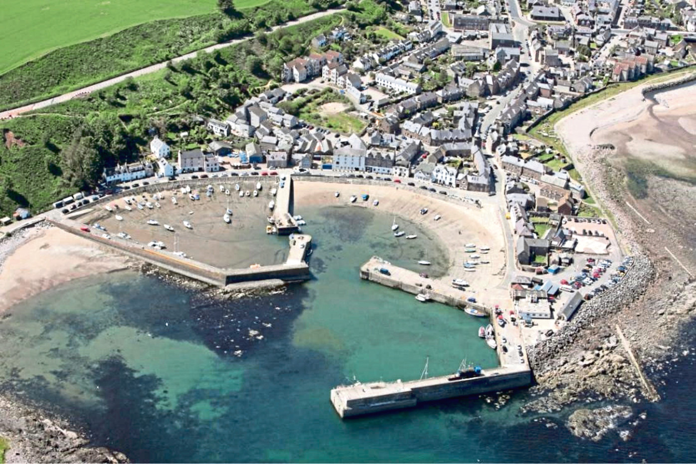 Stonehaven Harbour is one of three harbours Aberdeenshire Council is looking to improve in a project