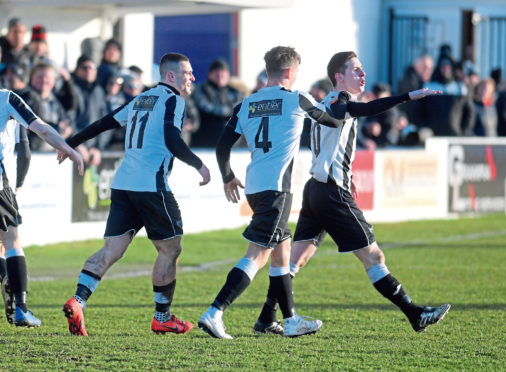 Sean Butcher scored for Fraserburgh.  Picture by Kath Flannery