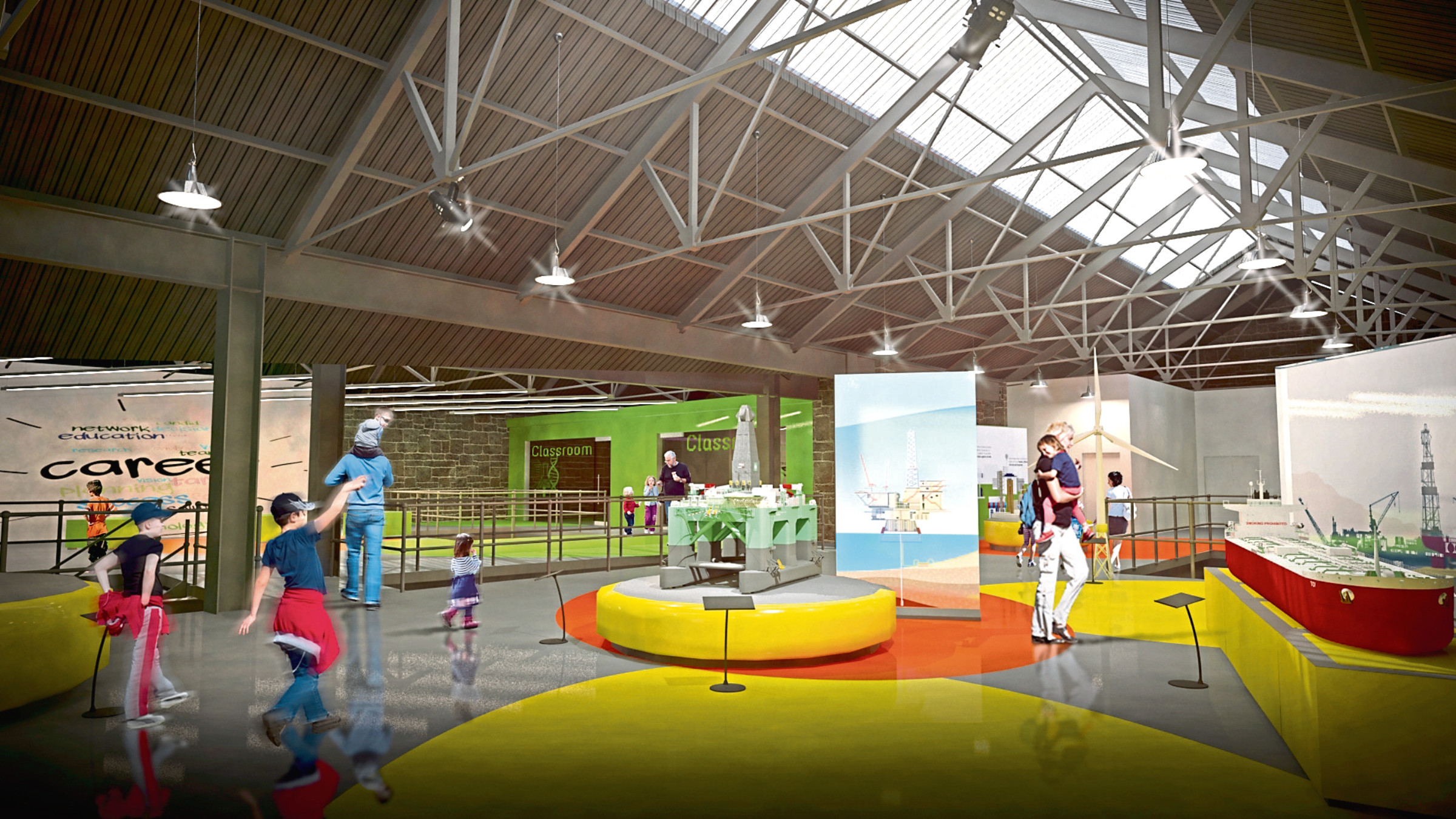The proposed interior of the redeveloped Aberdeen Science Centre