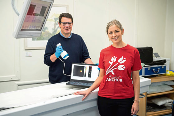 Aberdeen Royal Infirmary is the first NHS hospital in Scotland to benefit from a new imaging system, thanks to funding from Friends of ANCHOR and the NHS Grampian Endowment Fund
