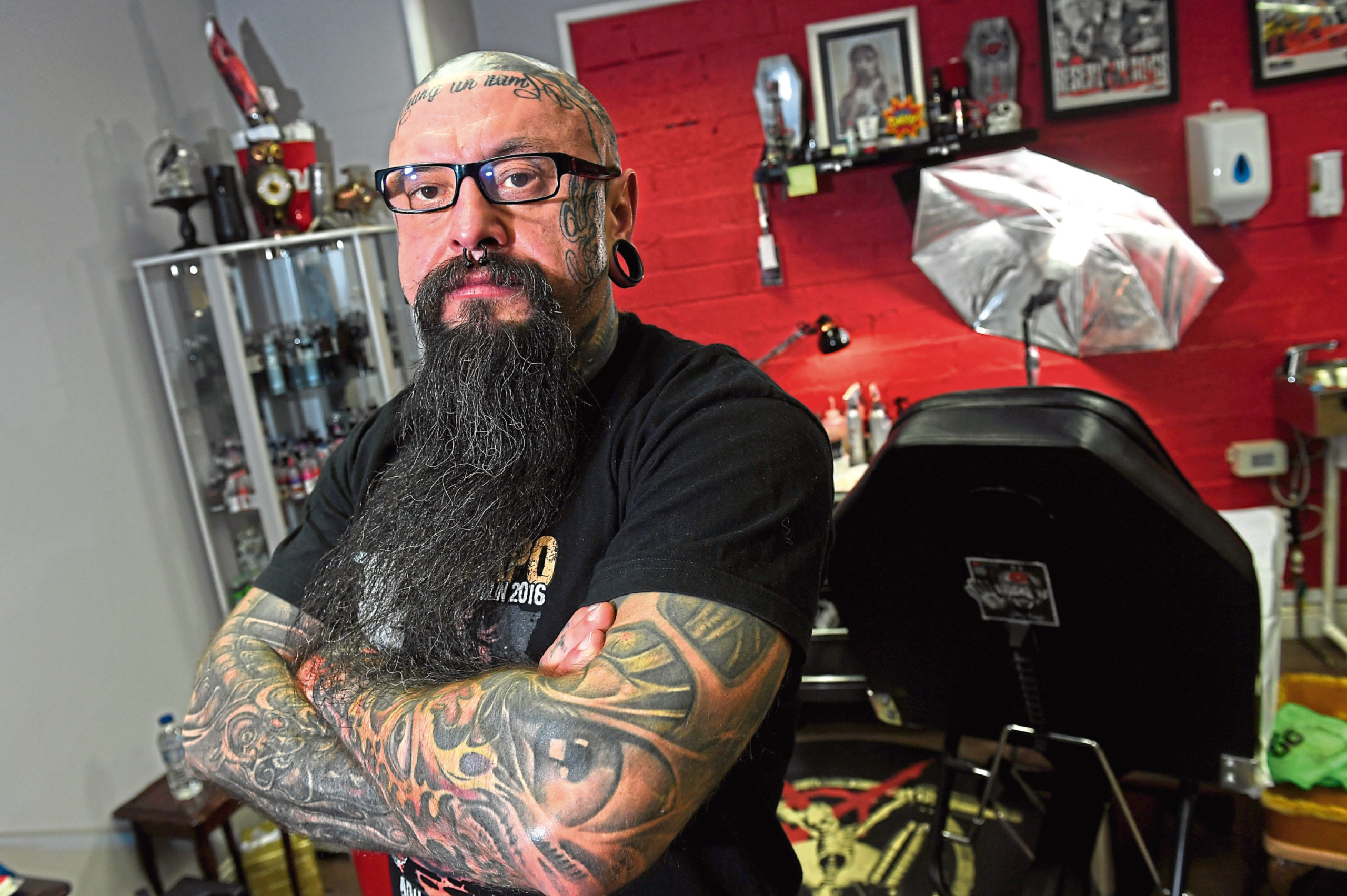 Reign in Blood owner Witold Andrzejewski is helping organise the Aberdeen Tattoo Convention to promote Aberdeen