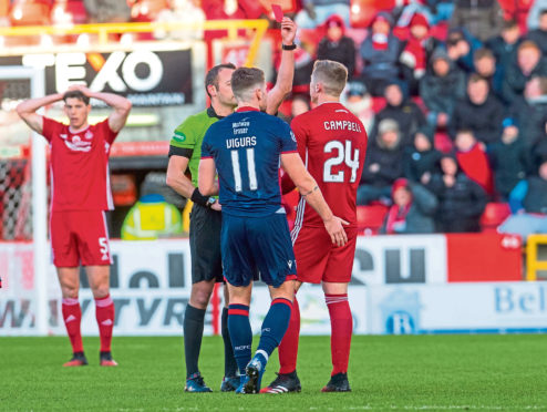 Dean Campbell's sending off was the turning point on Saturday.