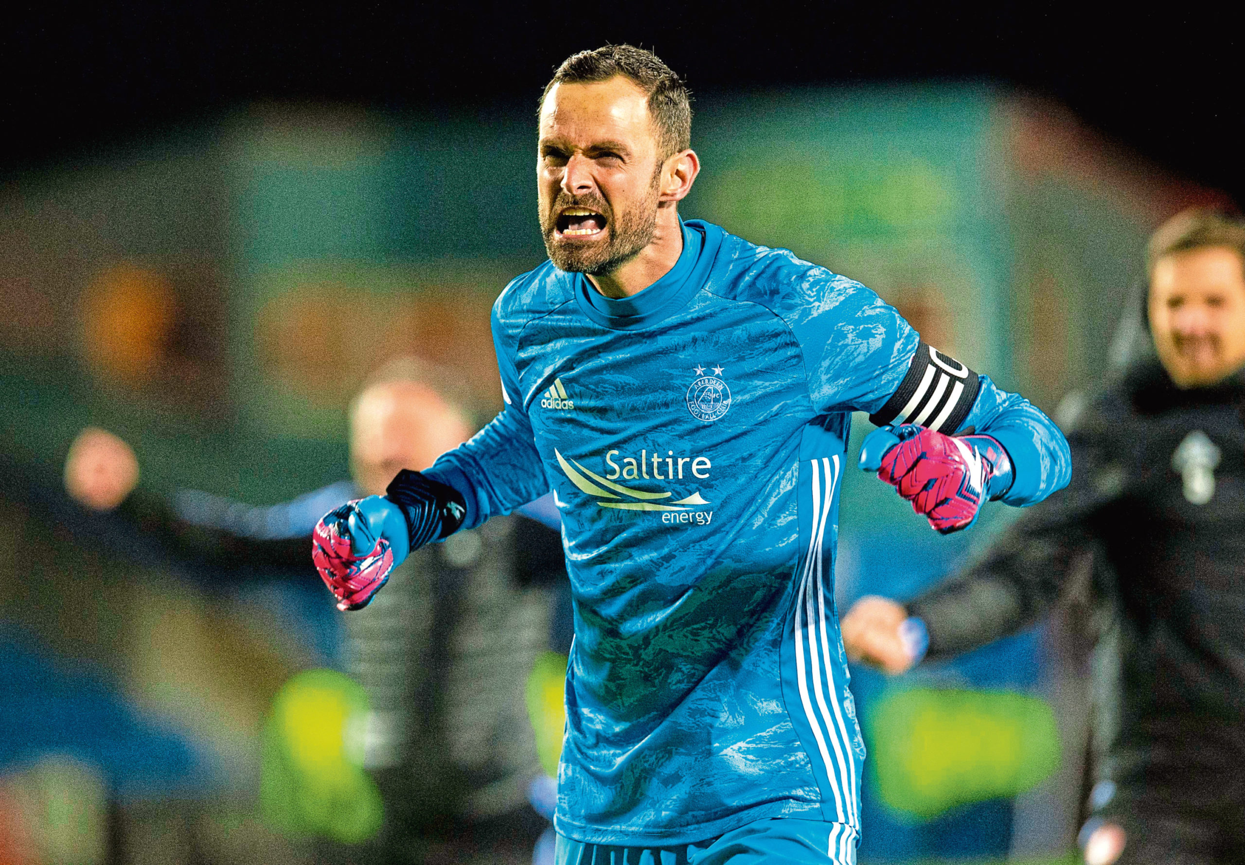Aberdeen captain and keeper Joe Lewis.