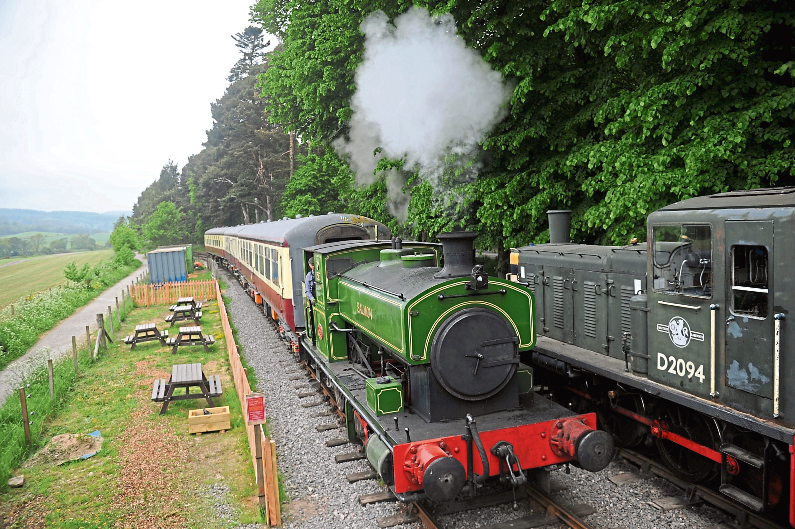 The Royal Deeside Railway Preservation Society has reached its funding goal for a new bridge.
