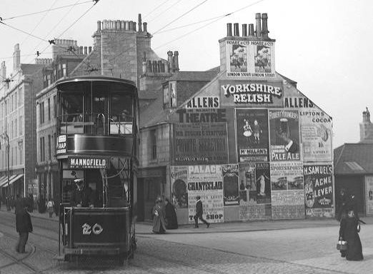 Holburn Street at its junction with Great Western Road and Willowbank Road in the late 1800s. Picture courtesy of the George Washington Wilson archive at Aberdeen University
