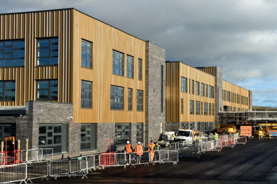 The new Inverurie Community Campus is due to open in April