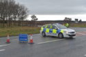 The A96 remains closed to traffic in both directions and diversions are in place