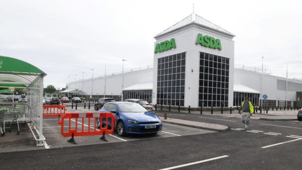 The incident happened at the Asda in Portlethen