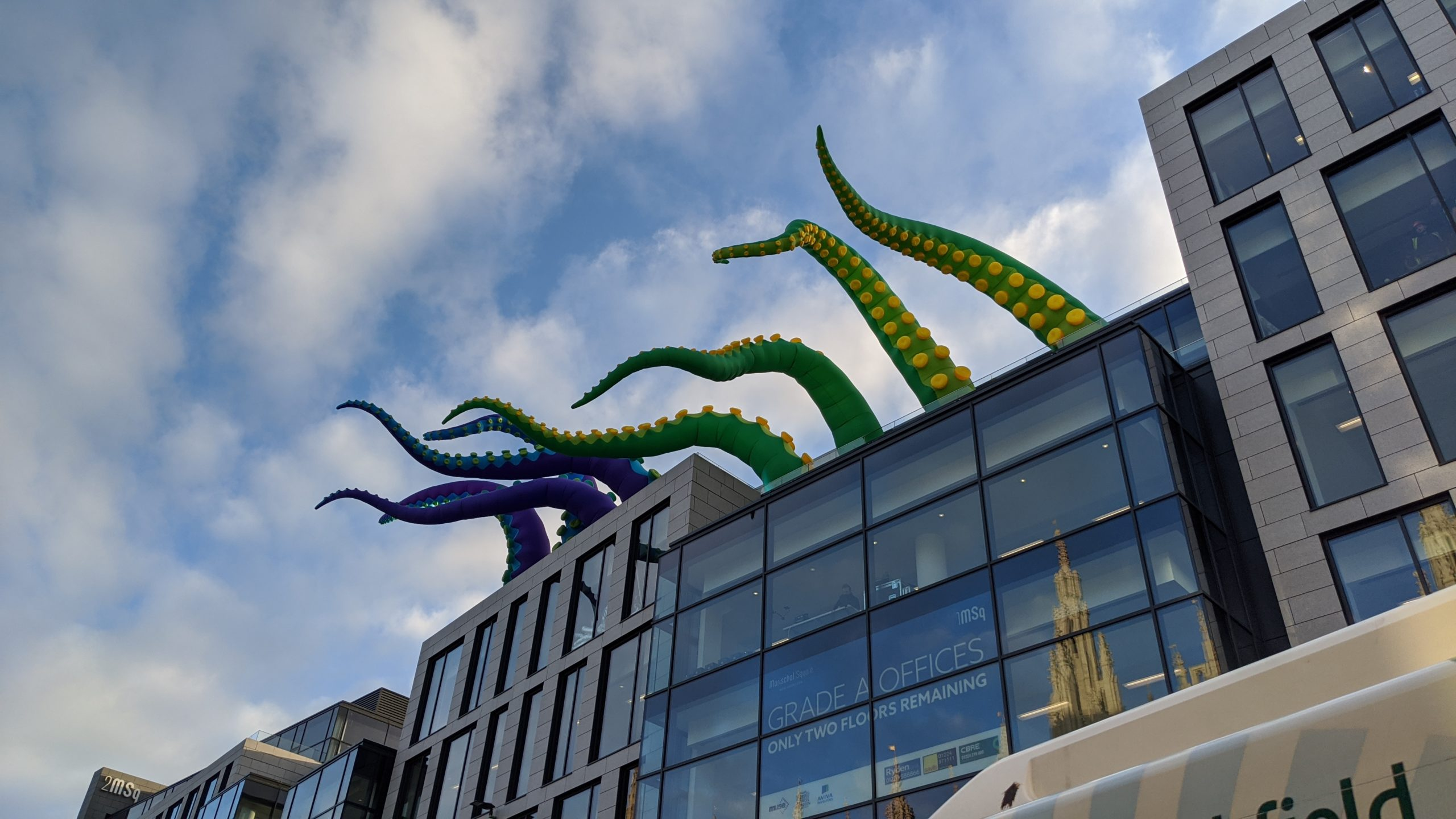 Massive tentacles were spotted coming out of Marischal Square
