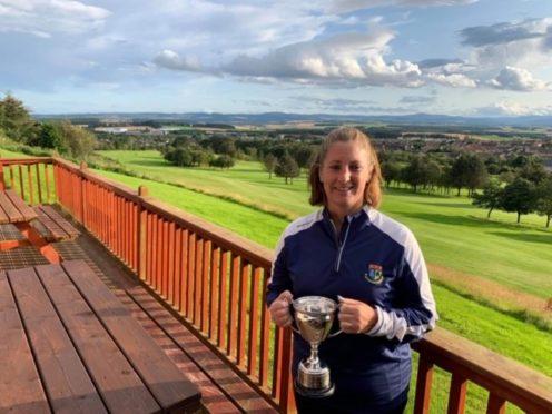Julie Lees, winner of the Westhill ladies' club championship.