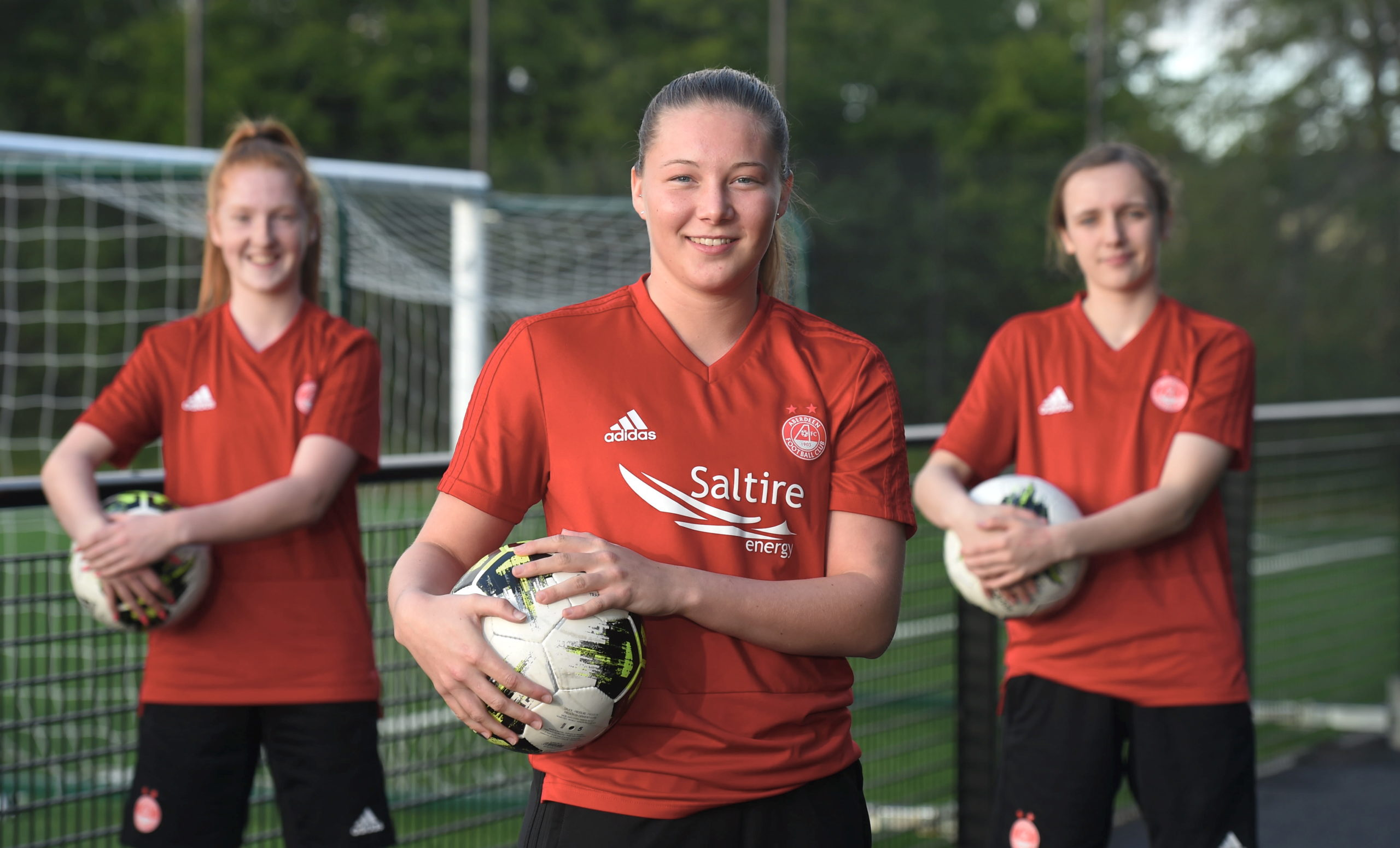 Pictured from left, Eilidh Shore, Francesca Ogilvie and Bayley Hutchison. Picture by Heather Fowlie