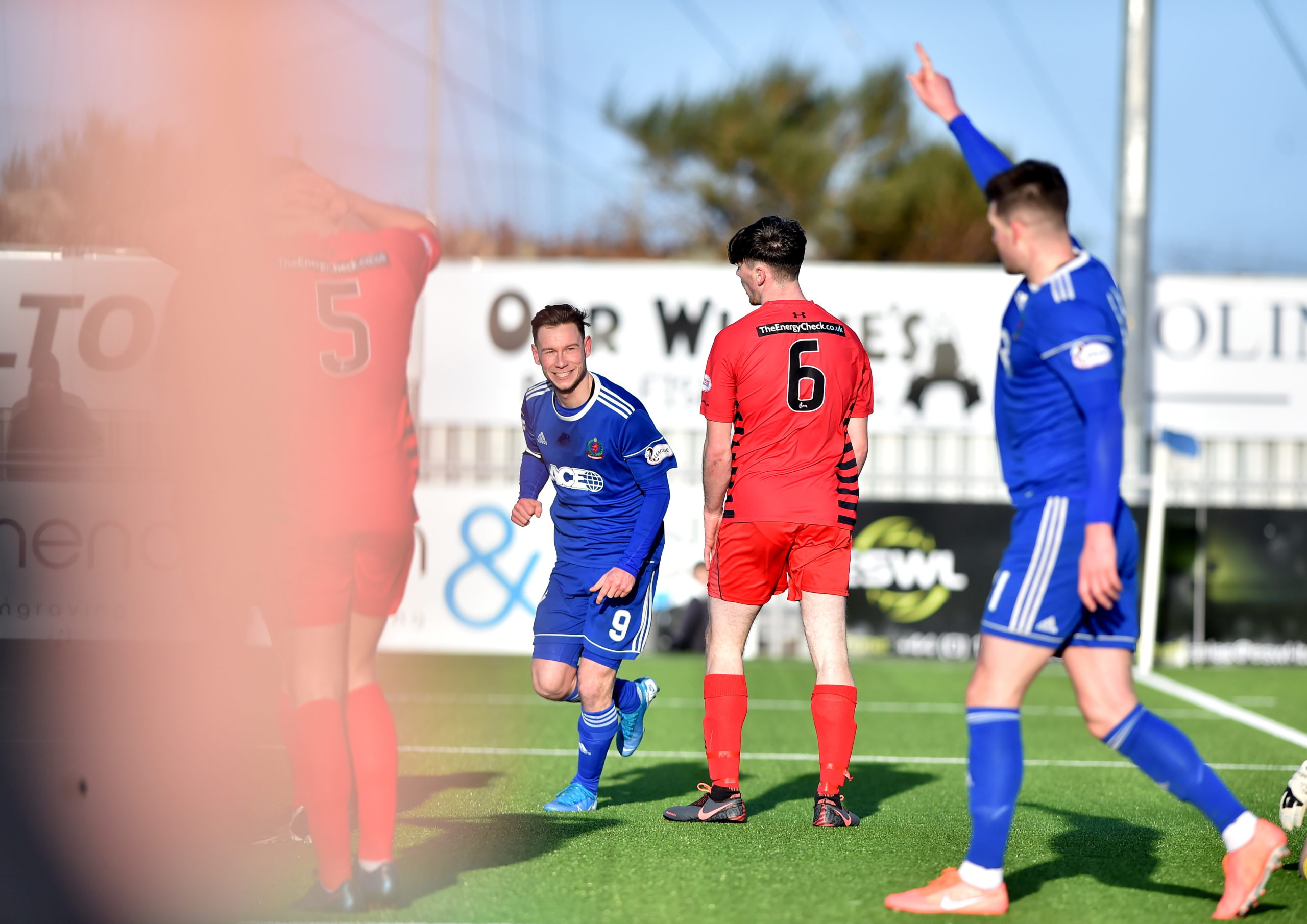 Mitchel Megginson and Jamie Masson after Cove made it 2-0.   Picture by Scott Baxter    22/02/2020
