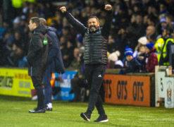 Derek McInnes celebrates Aberdeen's Scottish Cup victory.