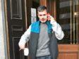Steven Lockhart leaving Aberdeen Sheriff Court