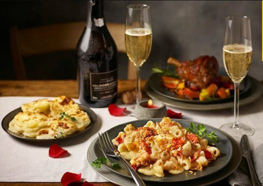 Tesco's Lobster Macaroni and Cheese Valentines day meal