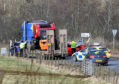 The scene of the incident on the A947