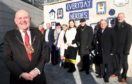 Lord Provost Barney Crockett with the heroes
