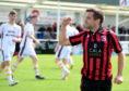Inverurie Locos striker Neil Gauld.