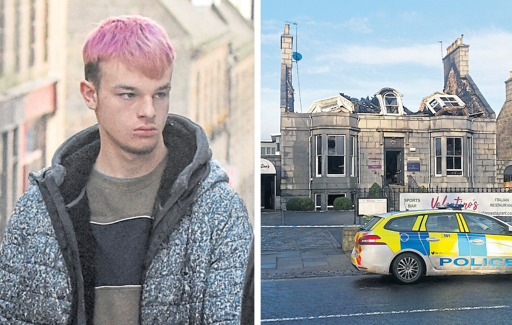 Lee Munro stole bottles of prosecco from fire-hit Valentino's on Aberdeen's Carden Place