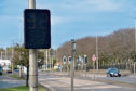 A speed warning sign has been installed on Ellon Road, across from the Gordon Barracks