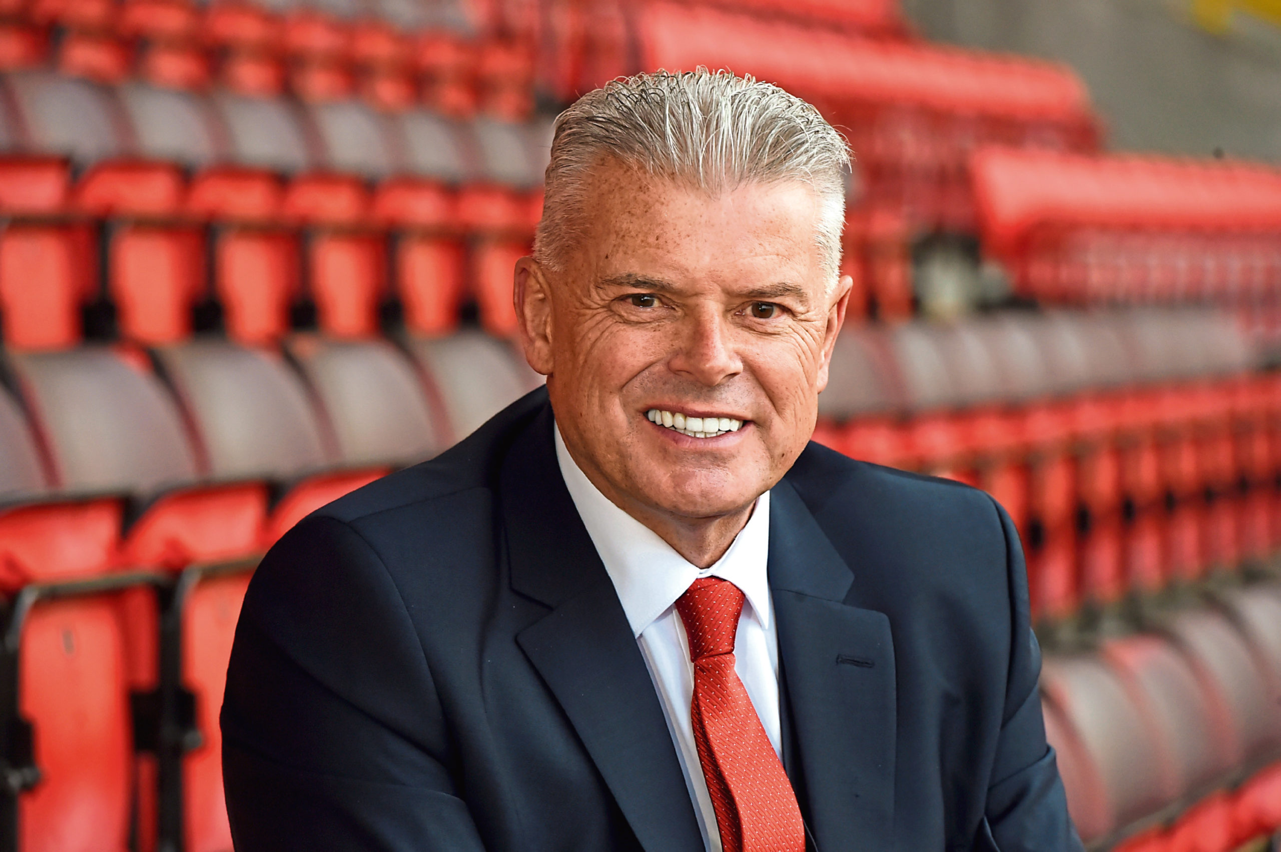 Aberdeen chairman Dave Cormack at Pittodrie