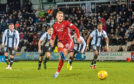 Sam Cosgrove scoring for Aberdeen.