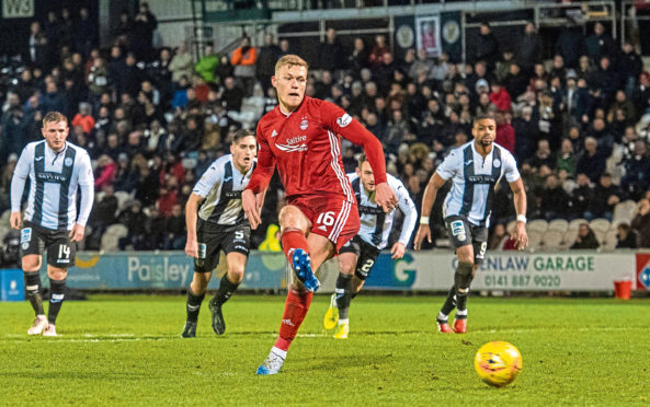 Sam Cosgrove sustained his injury in last week's bounce game against Hibernian
