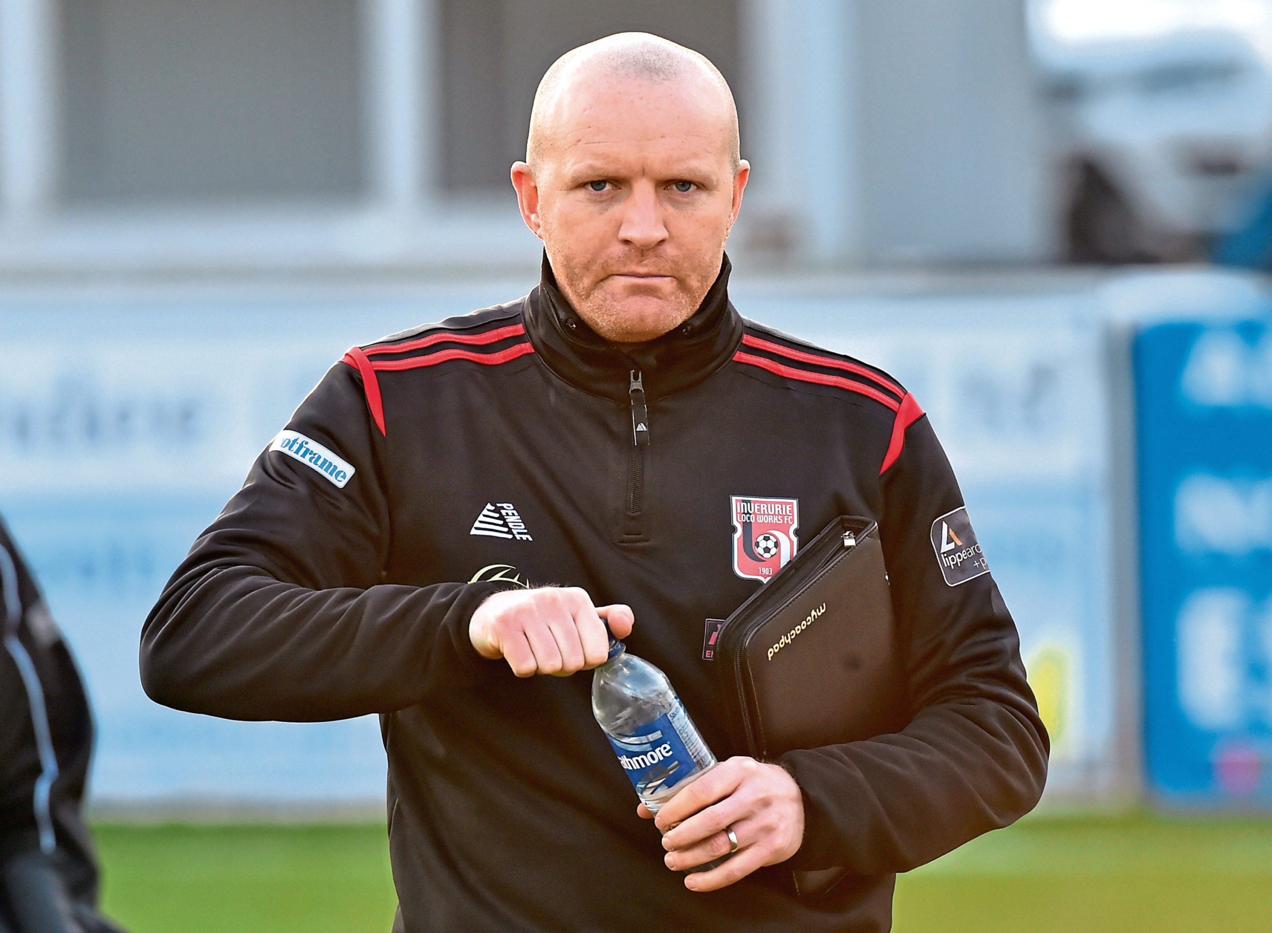 Inverurie Locos manager Andy Low.  Picture by Kenny Elrick