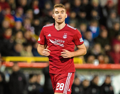 Tommie Hoban in action for Aberdeen last term.