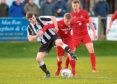 Fraserburgh's Ryan Sargent, left. Picture by Kath Flannery