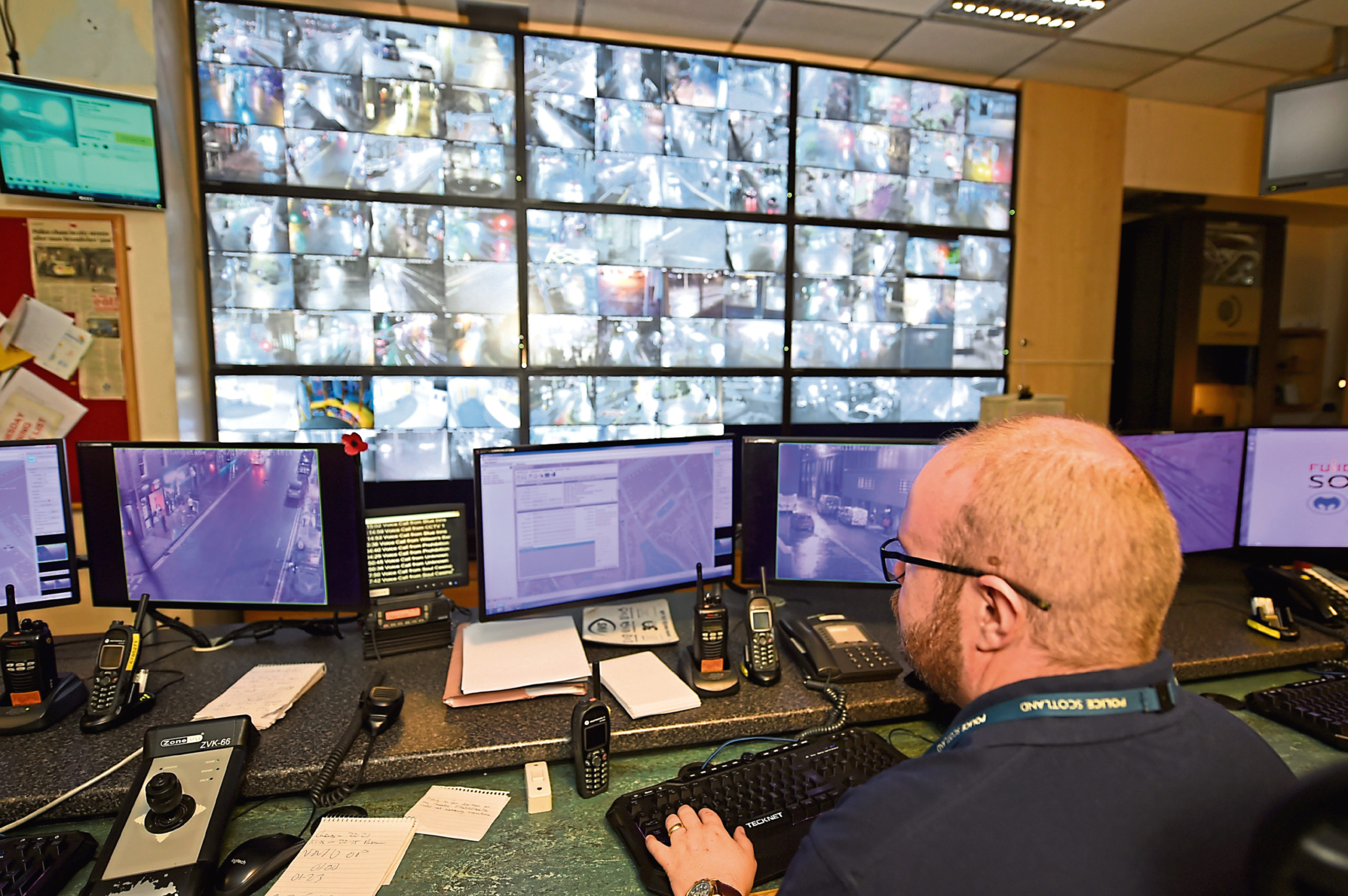 The police and council CCTV network will be integrated and overseen from a base at the city's Marischal College