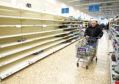 Shelves are bare in supermarkets across the country