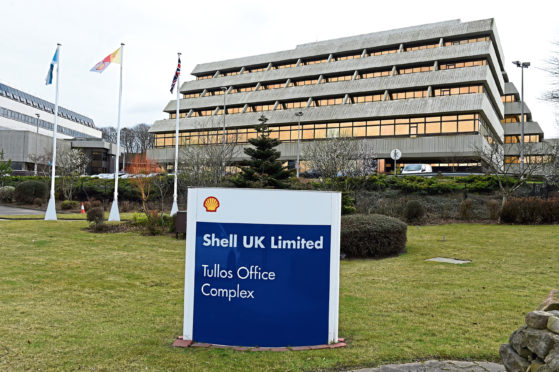 The jobs could be lost at Shell's Aberdeen base