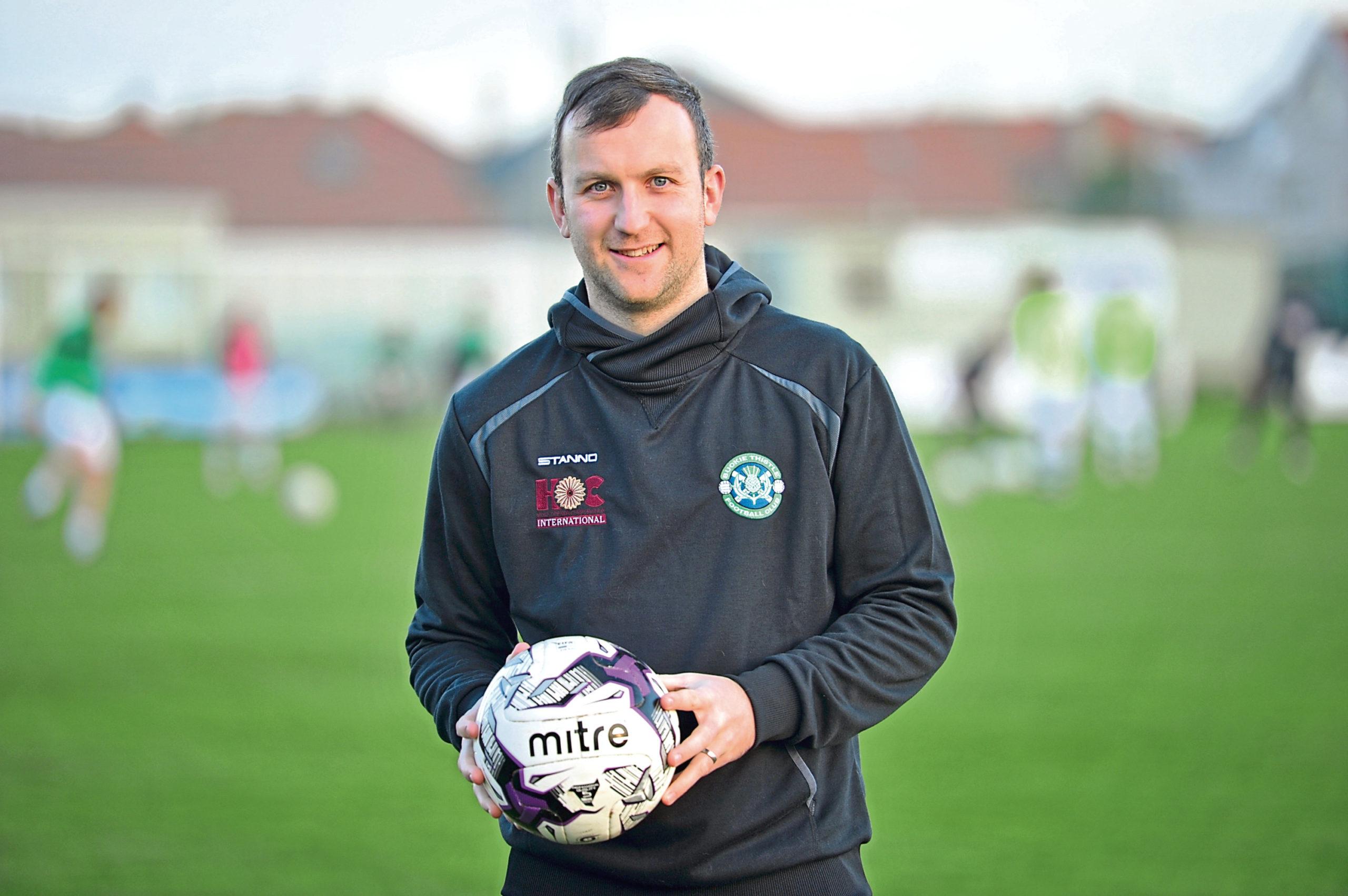 Buckie striker John McLeod. Picture by Jason Hedges