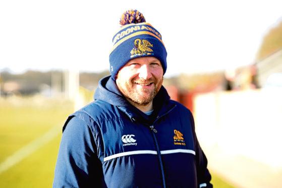 Gordonians coach Ryan Morrice. Picture by Jim Irvine