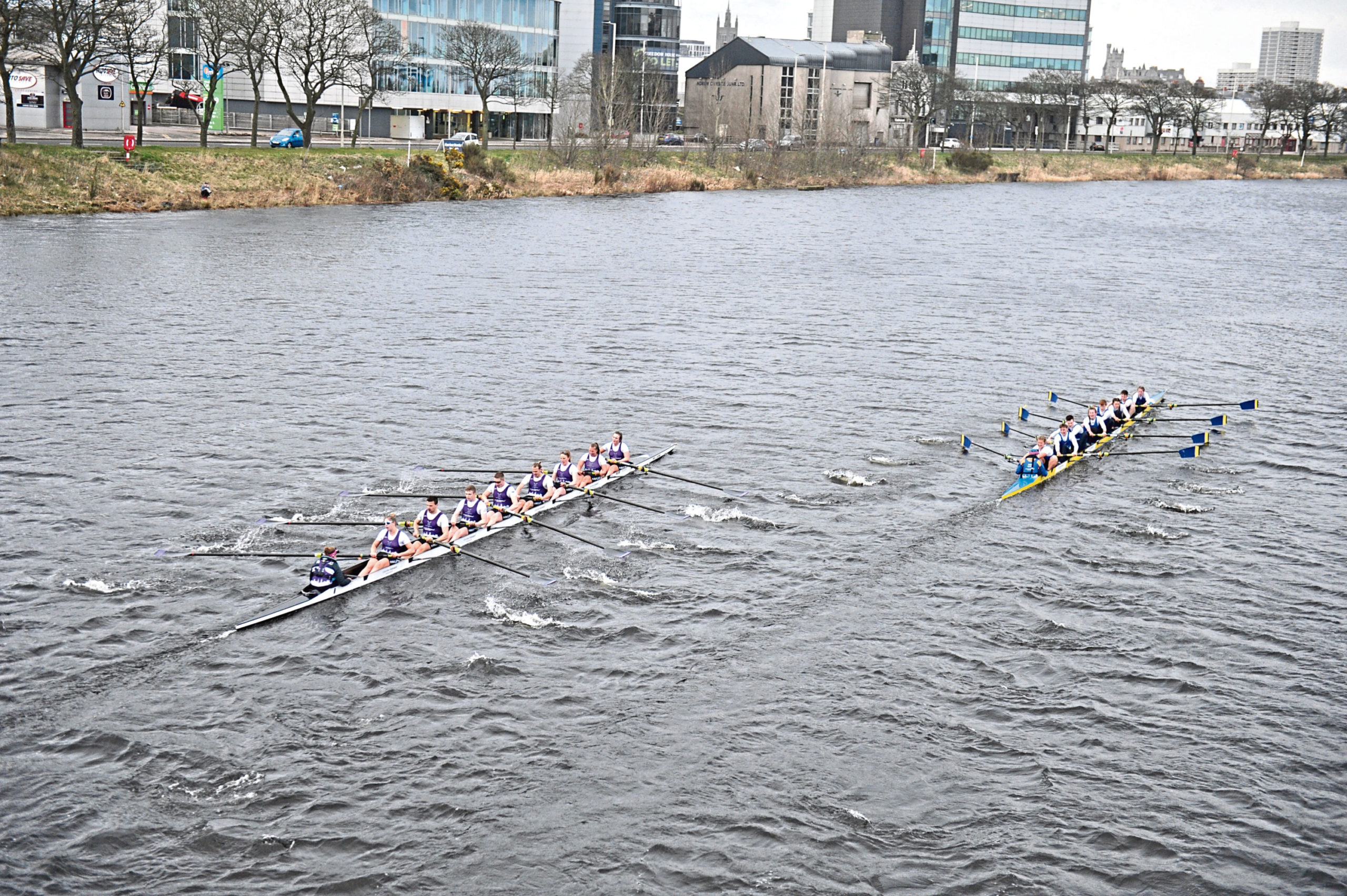 Aberdeen University win the Standard Investments Boat Race. Picture by Paul Glendell