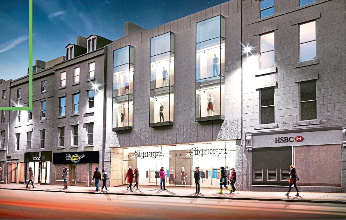 Office space, shops and apartments are being planned for the former BHS site at 91-93 Union Street