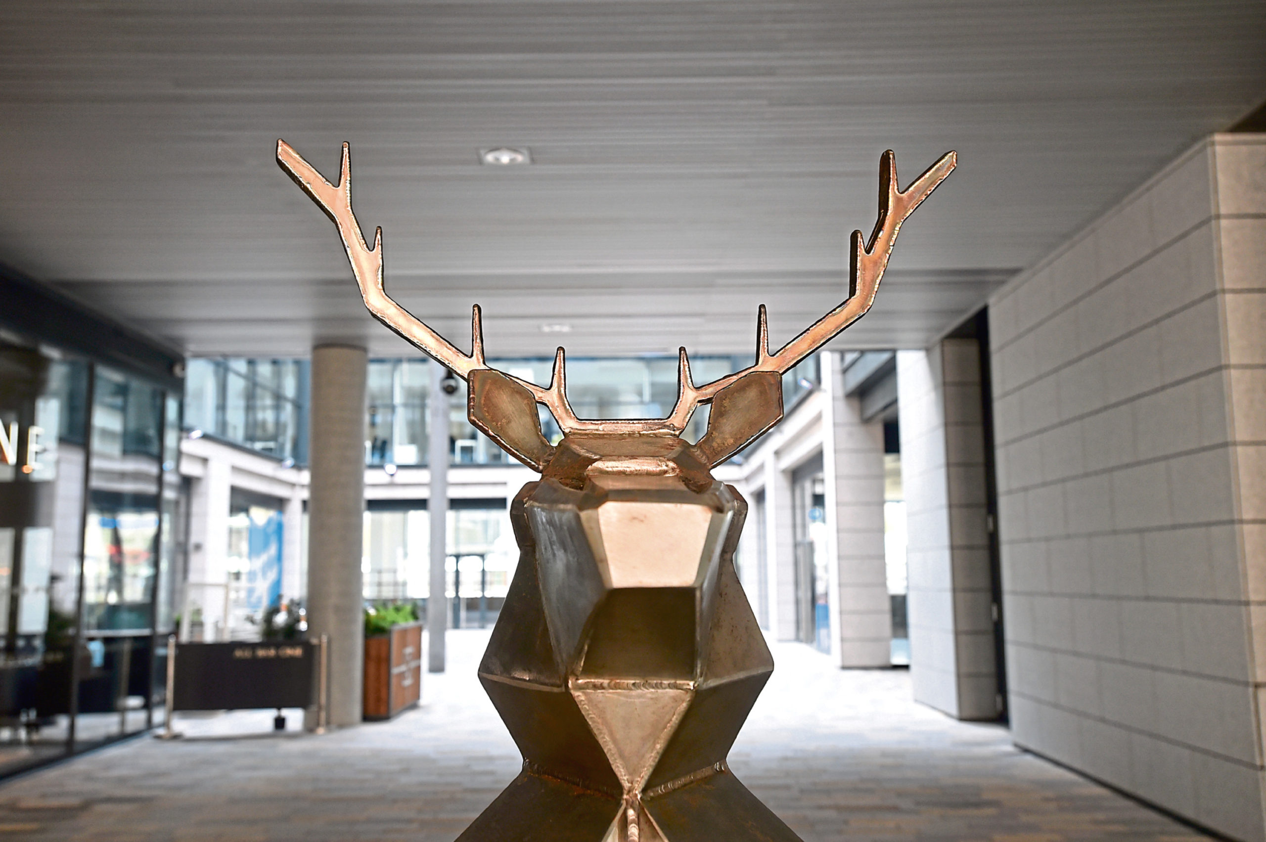 One of the new sculptures at Marischal Square
