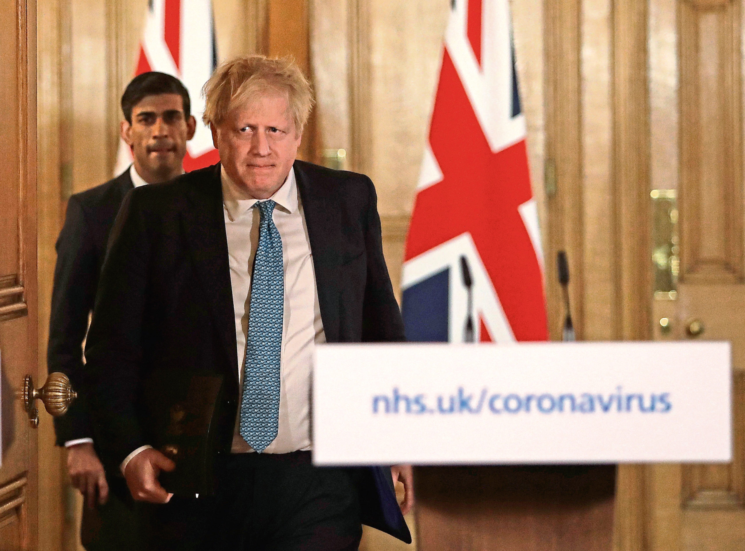 Chancellor Rishi Sunak and Prime Minister Boris Johnson