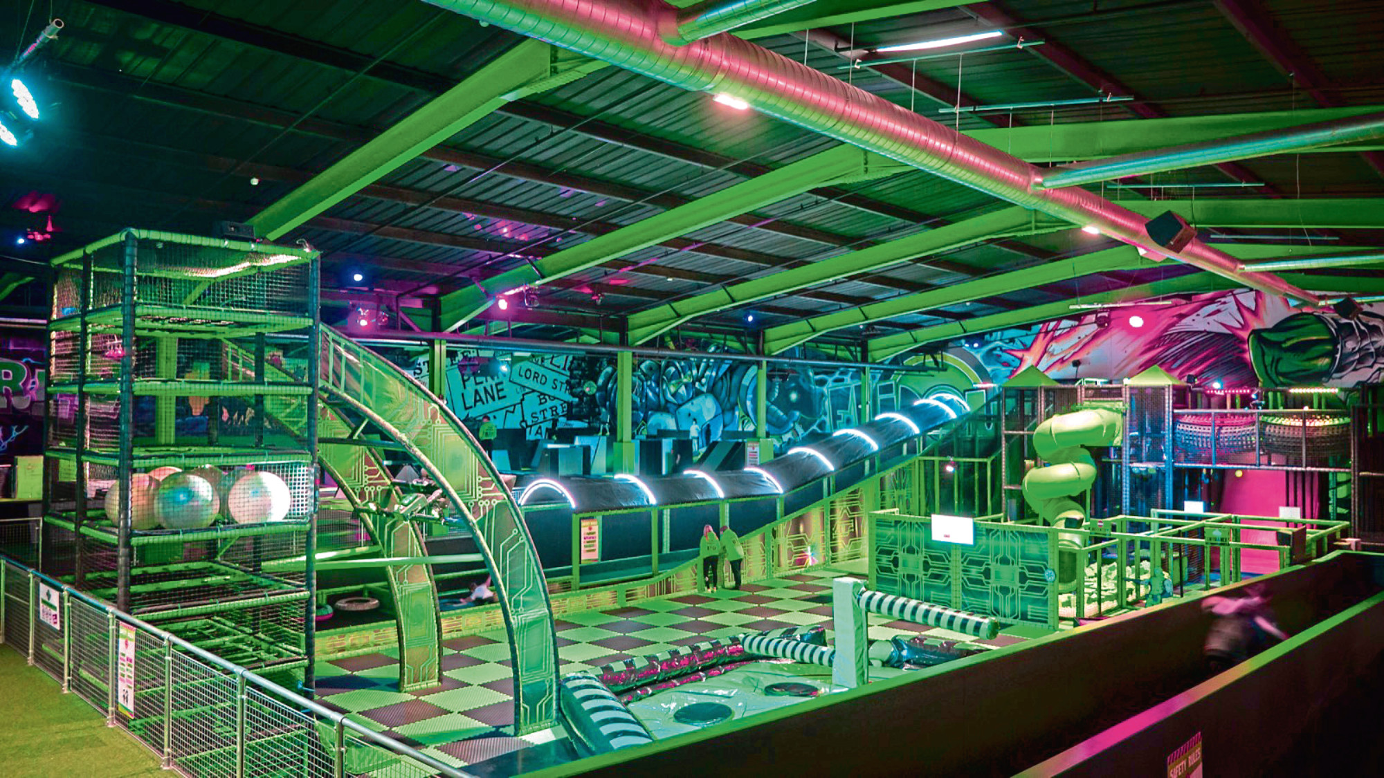 Flip Out will open a 65,000 sqft adventure park in the former BHS building on Union Street in Aberdeen