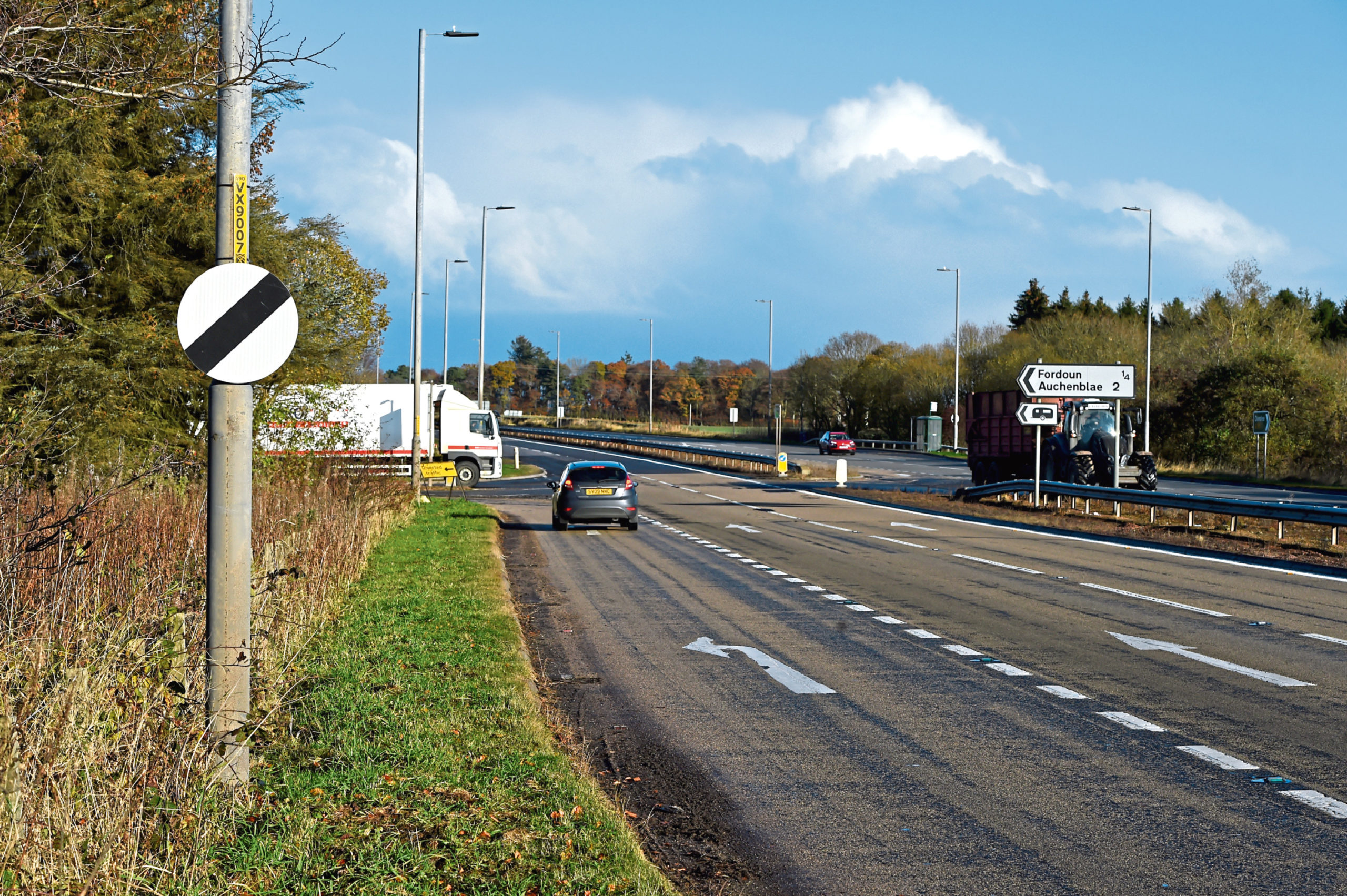 Safety measures are to be carried out on the A90