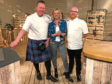 Kilted Chef Craig Wilson, left, will challenge Masterchef: The Professionals winner Gary Mclean, right, in the TV show, hosted by Clare Grogan
