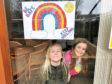Abigail, 9, & Stephanie, 6, Bridge of Don and their rainbow window