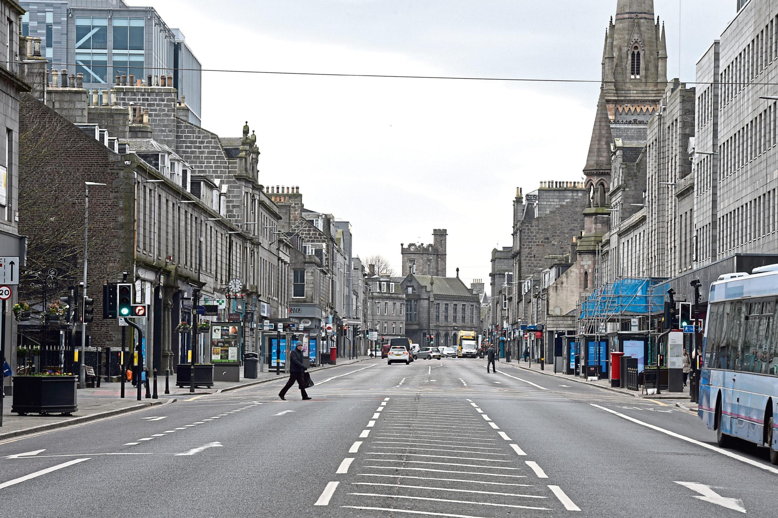 An empty Union Street