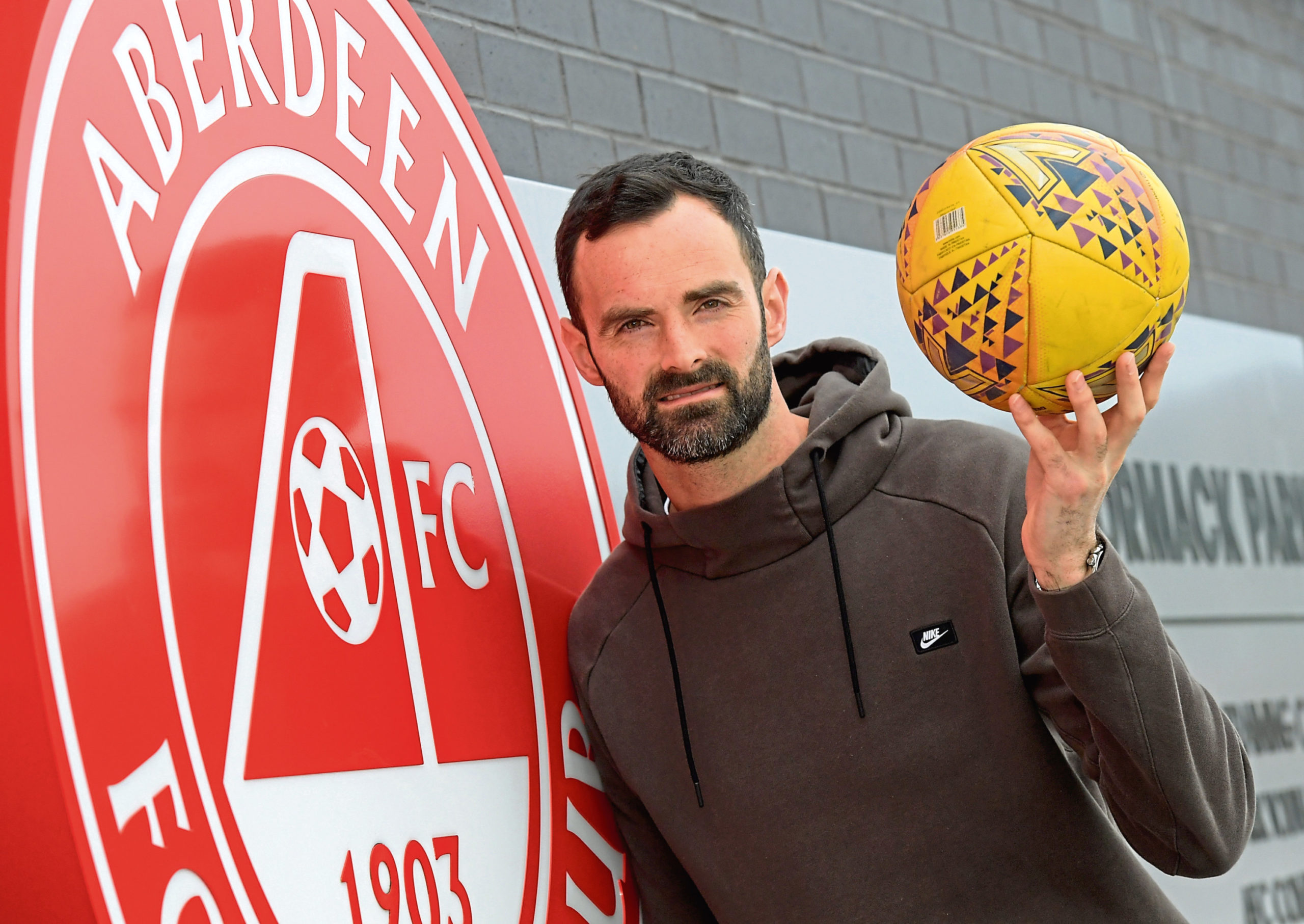 Aberdeen goalkeeper and captain Joe Lewis.