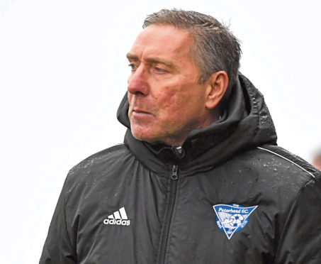 SCOTTISH LEAGUE ONE EAST FIFE V PETERHEAD (DUNCAN BROWN)  PETERHEAD' MANAGER JIM MCINALLY