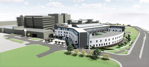 Artist's impression issued by NHS Grampian of the new Baird Family Hospital and Anchor Centre
