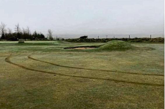 The damage at Oldmeldrum Golf Club
